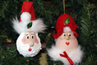 Ornament - Santa and Mrs. Claus in Red